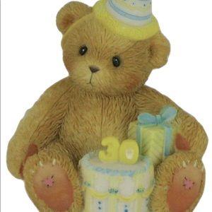 Happy 30th Birthday Figurine, Cherished Teddies